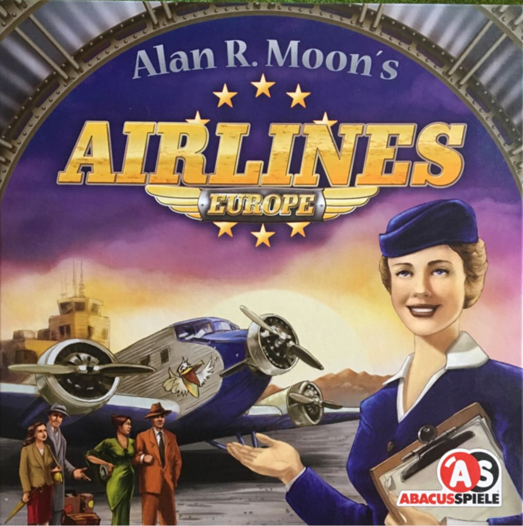 Airlines Europe Board Game - Abacusspiele front image (front cover)