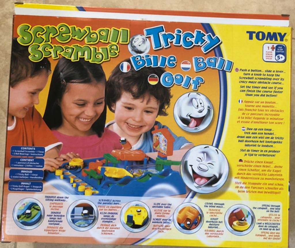 Tomy 7070 Children's Marble Maze Screwball Scramble Game Toy_