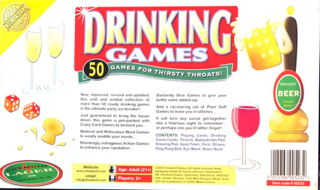 101 Drinking Games Board Game - Cheatwell Games (Adult
