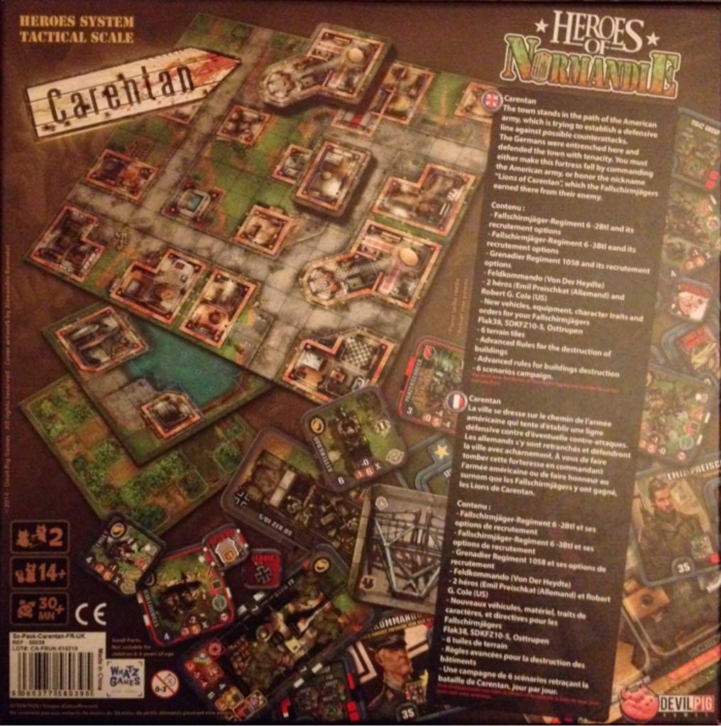 heroes of normandie carentan scenario pack board game devil pig