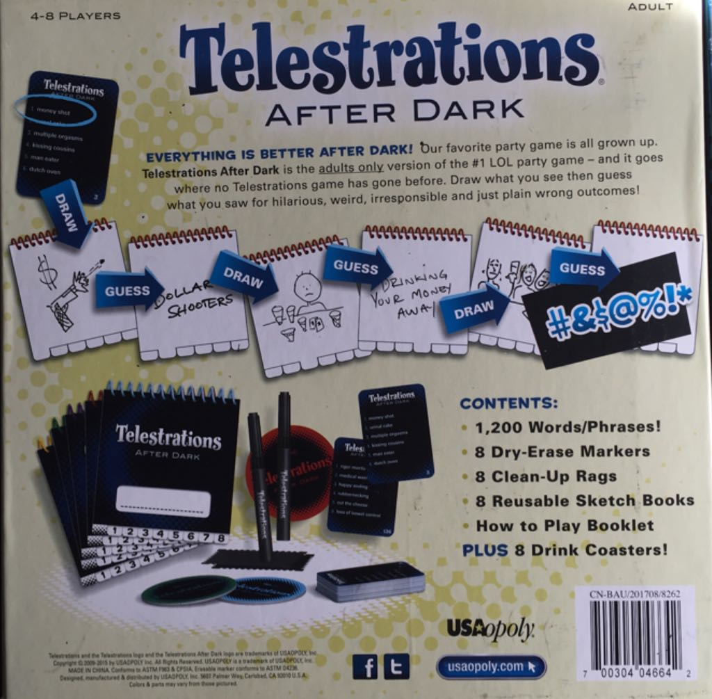Telestrations After Dark Board Game - USAopoly (Adult*Humor