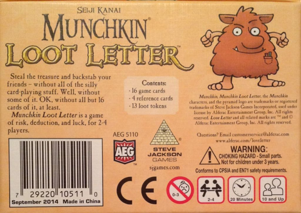 Munchkin Loot Letter Board Game Aeg Card Gamebluffing From