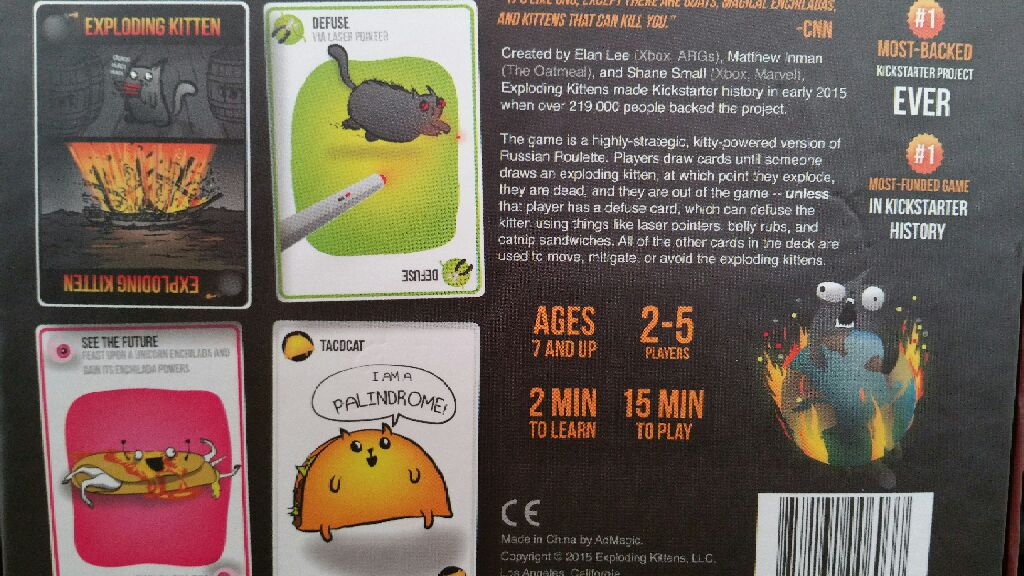 Exploding Kittens Board Game - AdMagic (Card Game) - from