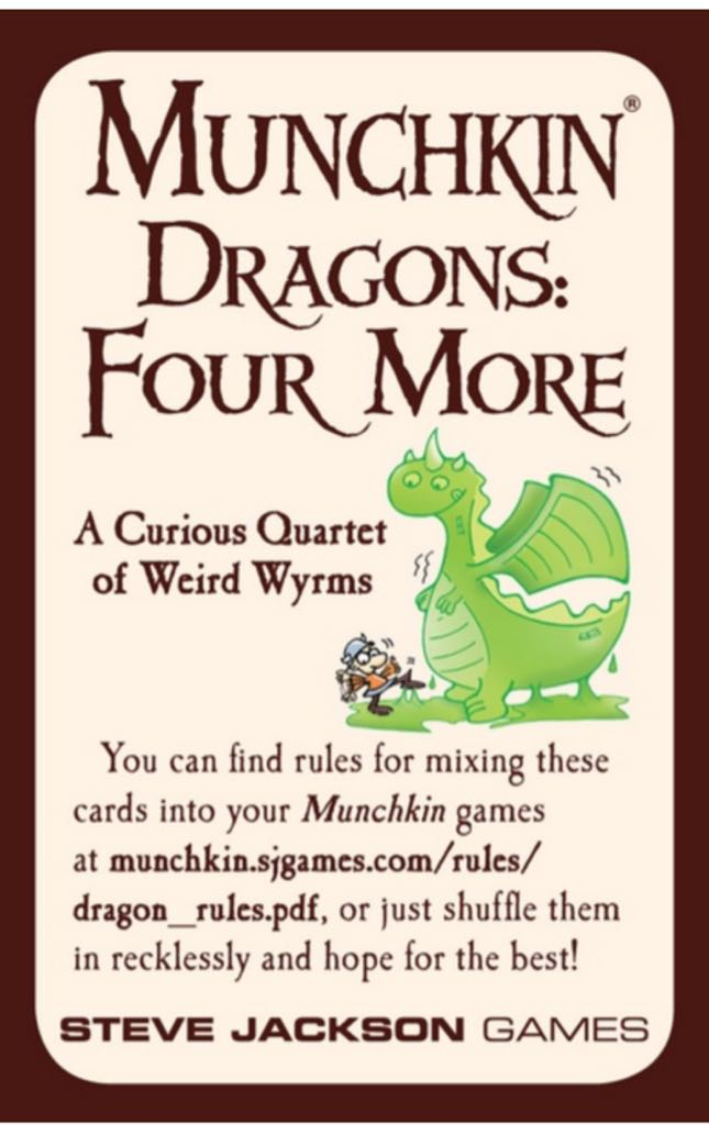 Munchkin Dragons: Four More Board Game - Steve Jackson Games - from ...
