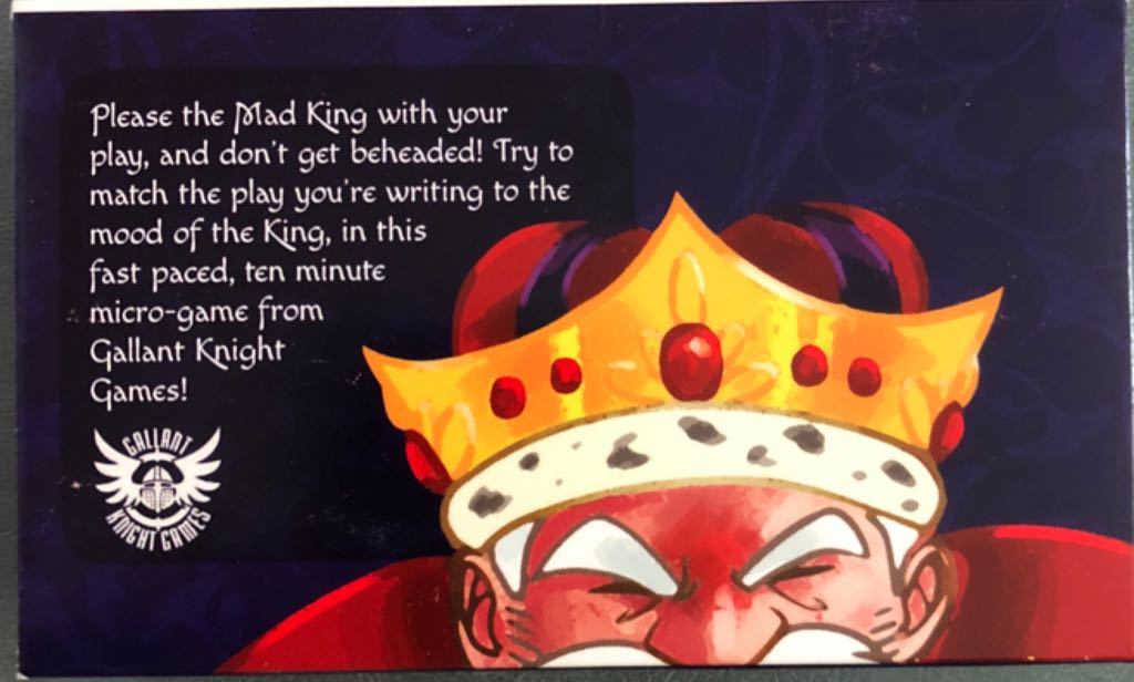 Moods Of The Mad King Board Game - Gallant Knight Games