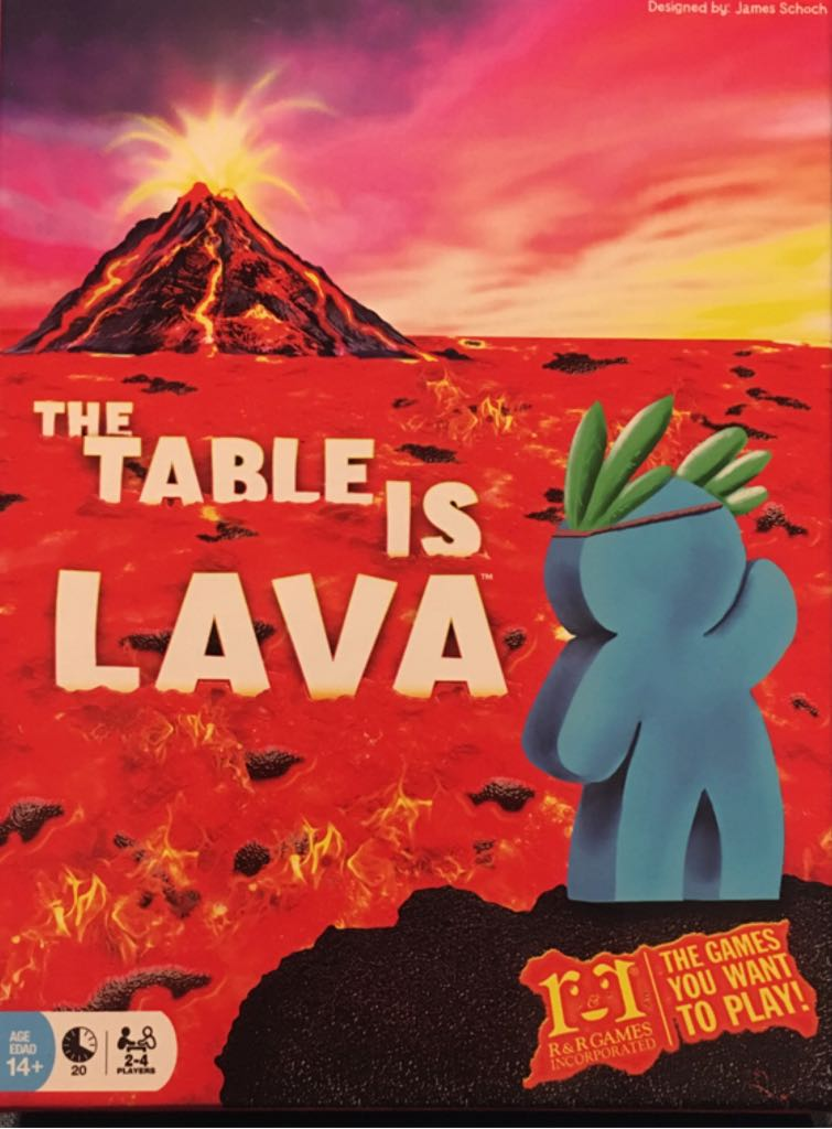The Table Is Lava Board Game - R&R Games (Action) front image (front cover)
