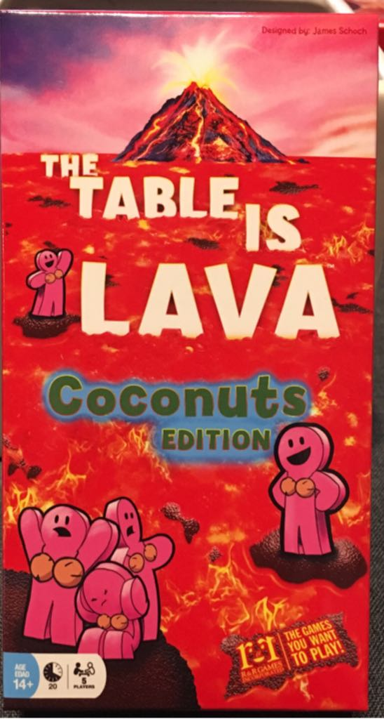 The Table Is Lava, Coconuts Edition Board Game - R&R Games front image (front cover)