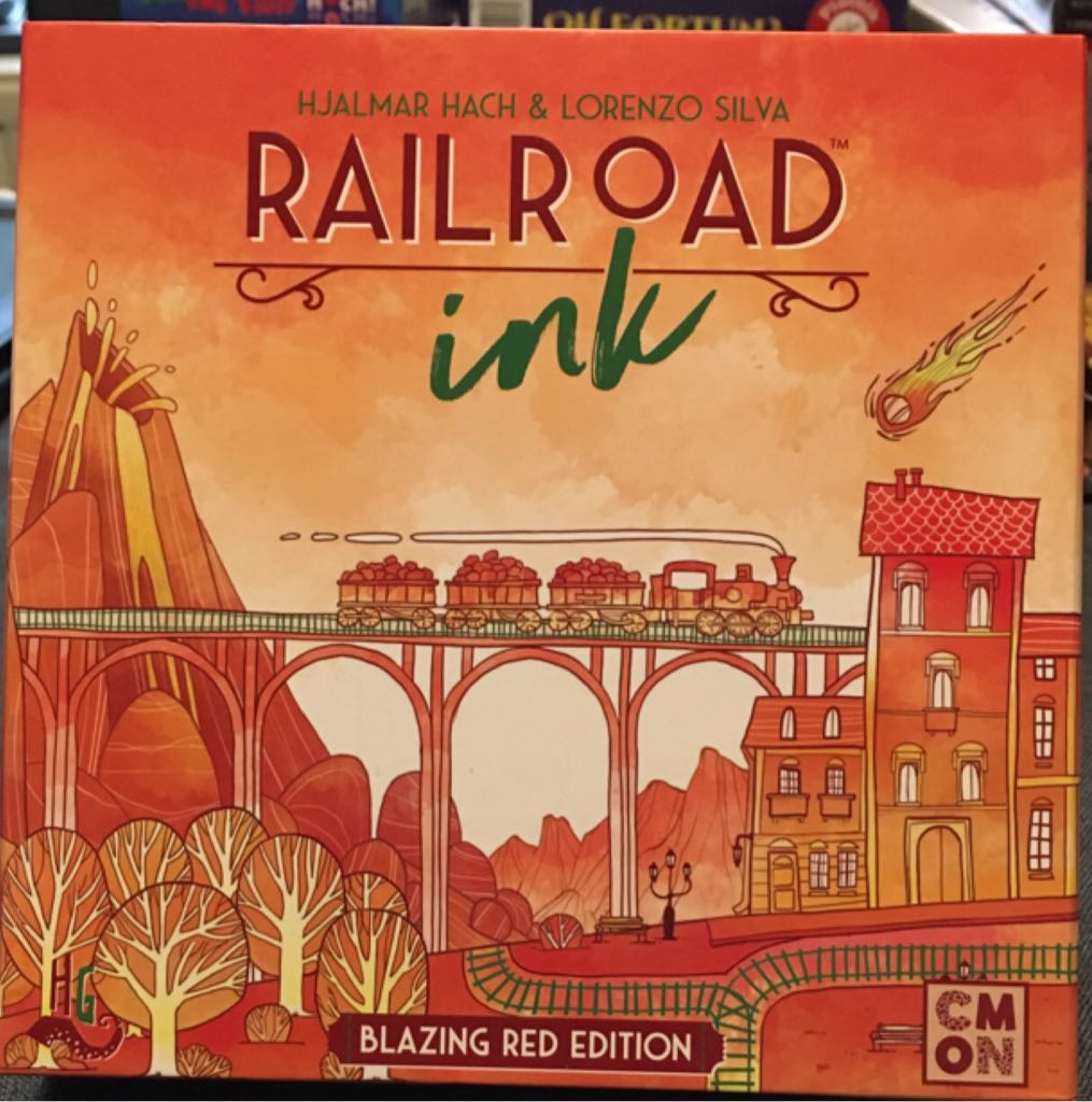 Railroad Ink, Blazing Red Edition Board Game - CMON Limited front image (front cover)