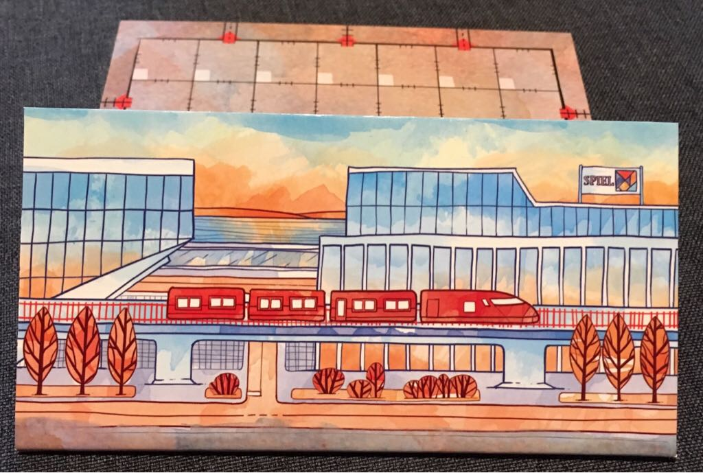 Railroad Ink, Promo Board #2 - Red Train Board Game - CMON Limited front image (front cover)