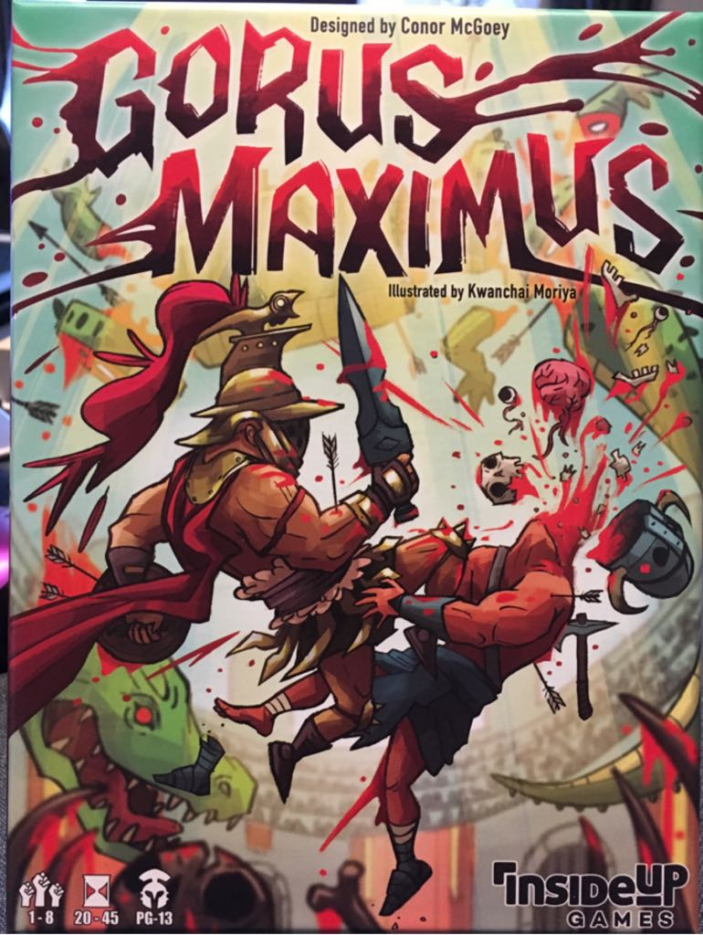 Gorus Maximus Board Game - Inside Up Games front image (front cover)