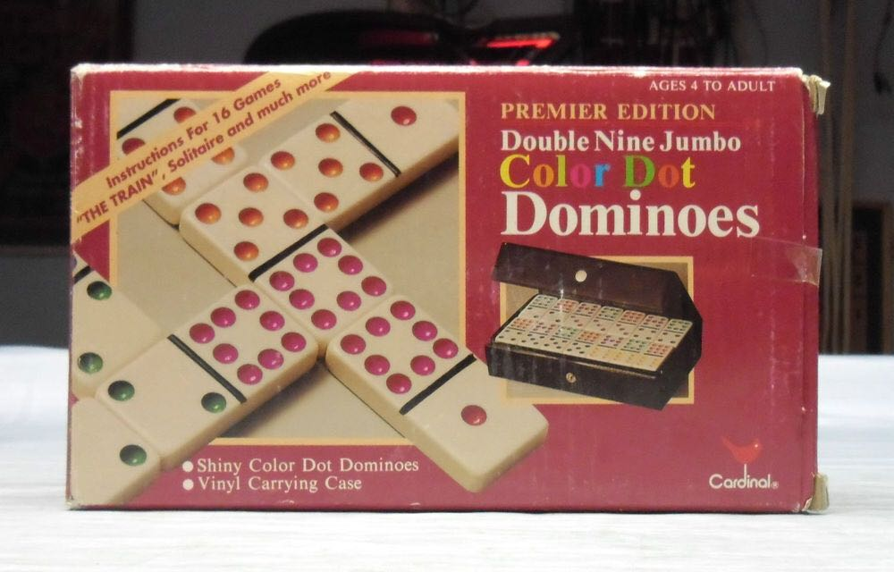 Color Dot Dominoes Board Game - Cardinal front image (front cover)