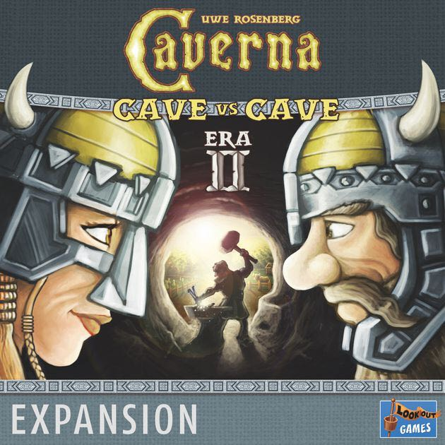 Caverna: Cave vs Cave - Era II: The Iron Age Board Game - Lookout Games (Economic*Expansion*Fantasy*Farming) front image (front cover)