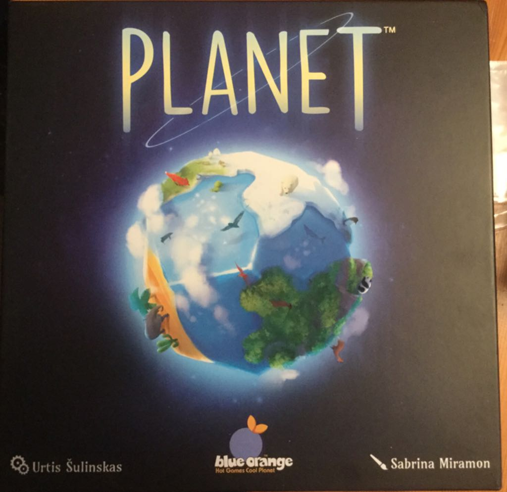 Planet Board Game - Blue Orange (Animals*Building*Children's Game) front image (front cover)