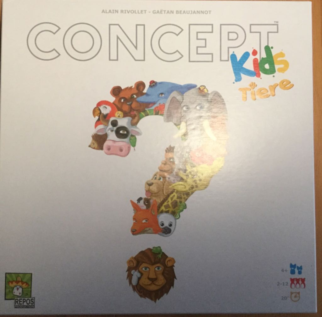 Concept Kids Tiere Board Game - Repos Production (Animals*Children's Game*Cooperative*Deduction) front image (front cover)