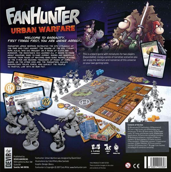 Fanhunter Board Game - Devir back image (back cover, second image)