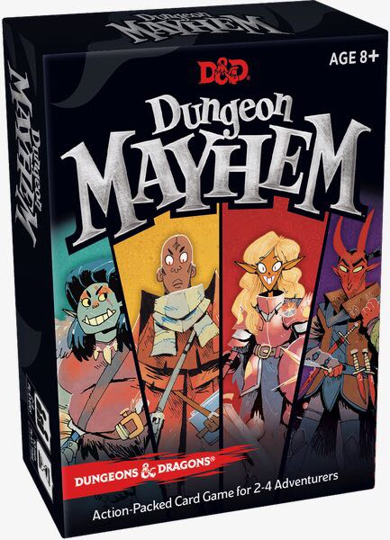 Dungeon Mayhem Board Game - Hasbro / Wizards of the Coast front image (front cover)