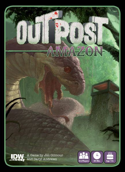 Outpost: Amazon Board Game - IDW Games front image (front cover)