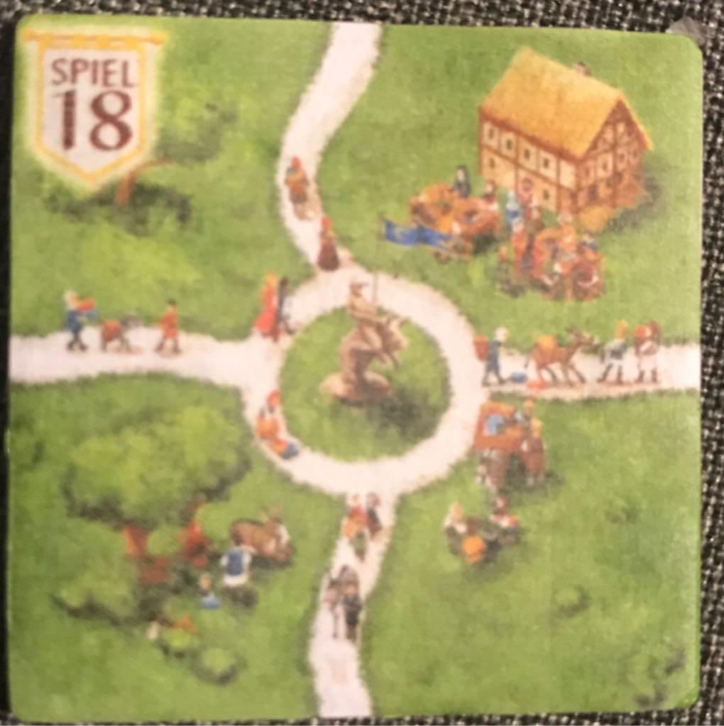 Carcassonne, Bonusplättchen Spiel 2028 Board Game - Hans Im Glück (Expansion*Medieval) front image (front cover)