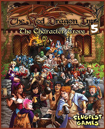 The Red Dragon Inn 5 Board Game - Slugfest Games (Card Game*Adult*Humor*Fantasy) front image (front cover)