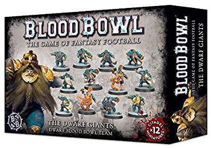 BLOOD BOWL: The Dwarf Giants Board Game front image (front cover)