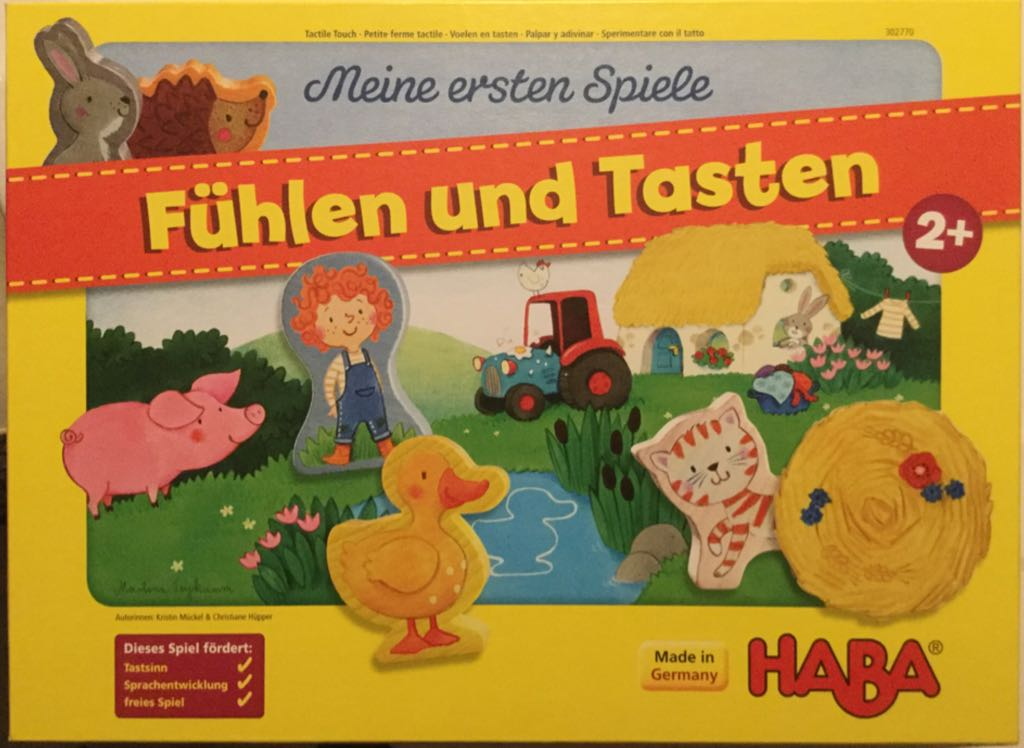 Fühlen Und Tasten Board Game - HABA (Animals*Children's Game) front image (front cover)