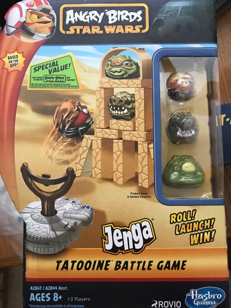 Angry Birds Star Wars Tattooine Battle Game Board Game front image (front cover)