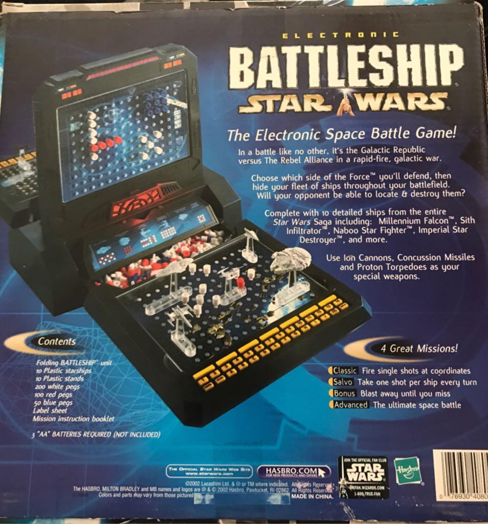 Battleship: Star Wars Board Game back image (back cover, second image)