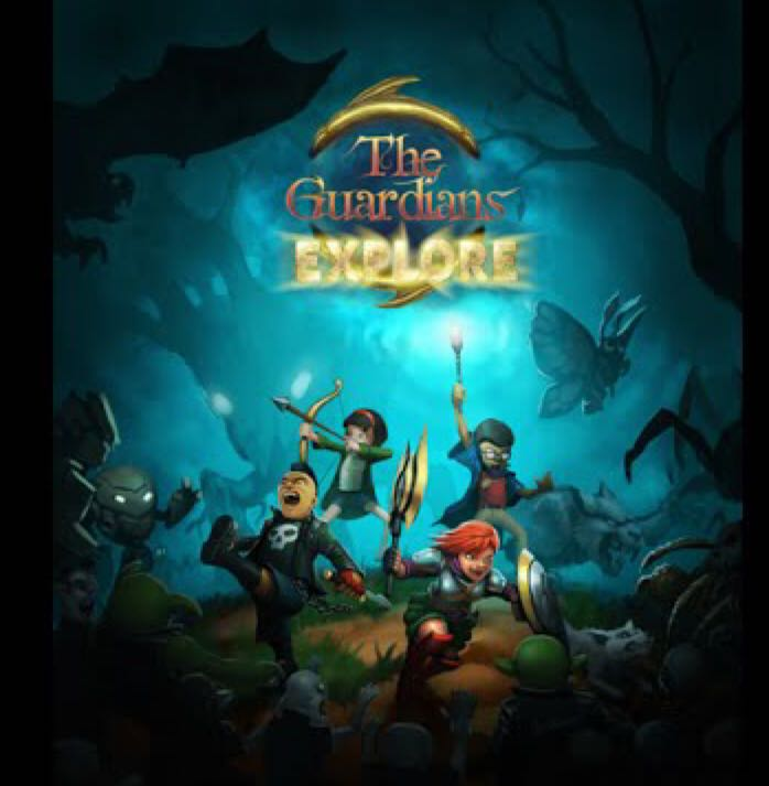 The Guardians Explore Board Game - Reihon Games front image (front cover)