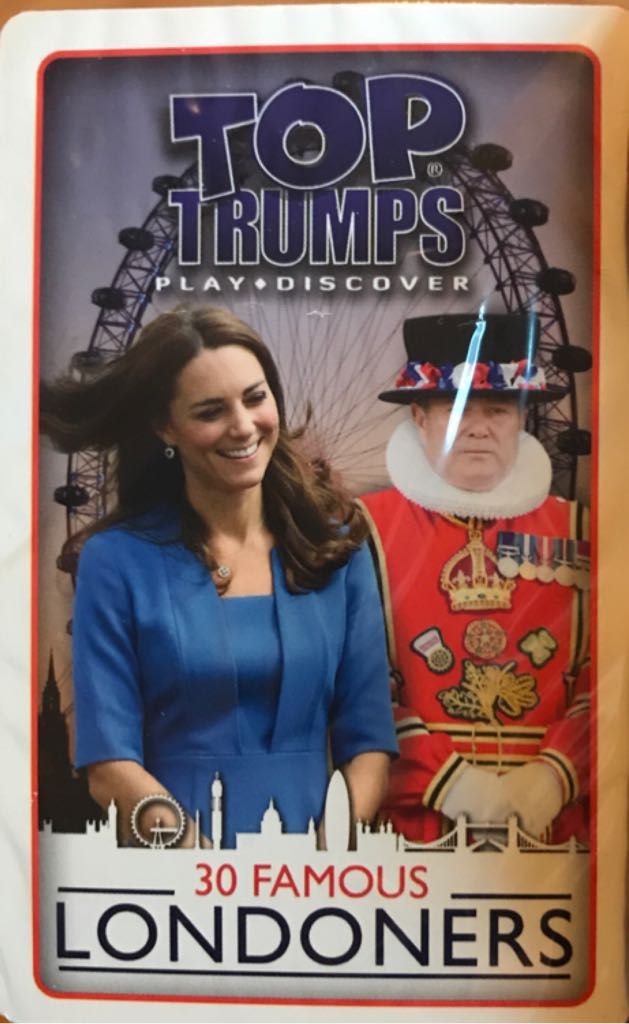 Top Trumps - 30 Famous Londoners Board Game - Winning Moves Uk Ltd (Card Game) front image (front cover)
