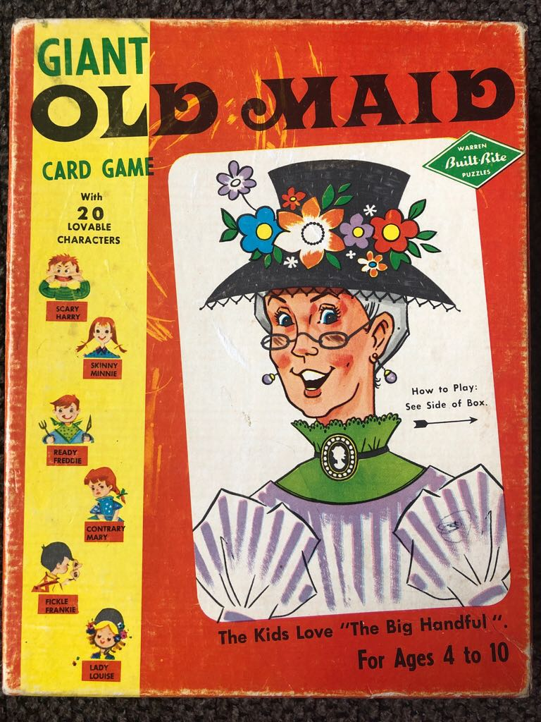 Giant Old Maid Board Game - Warren Paper Products (Card Game) front image (front cover)