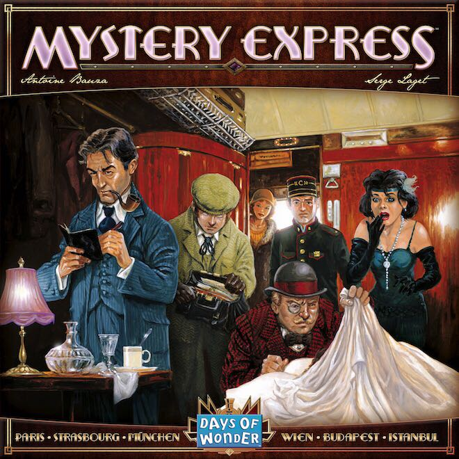 Mystery Express Board Game - Days of Wonder front image (front cover)