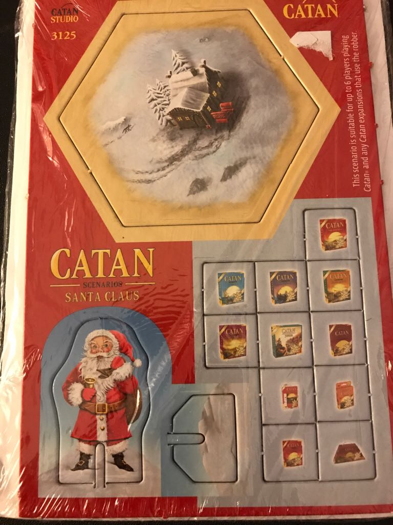 Settlers Of Catan: Santa Claus Scenario Board Game front image (front cover)