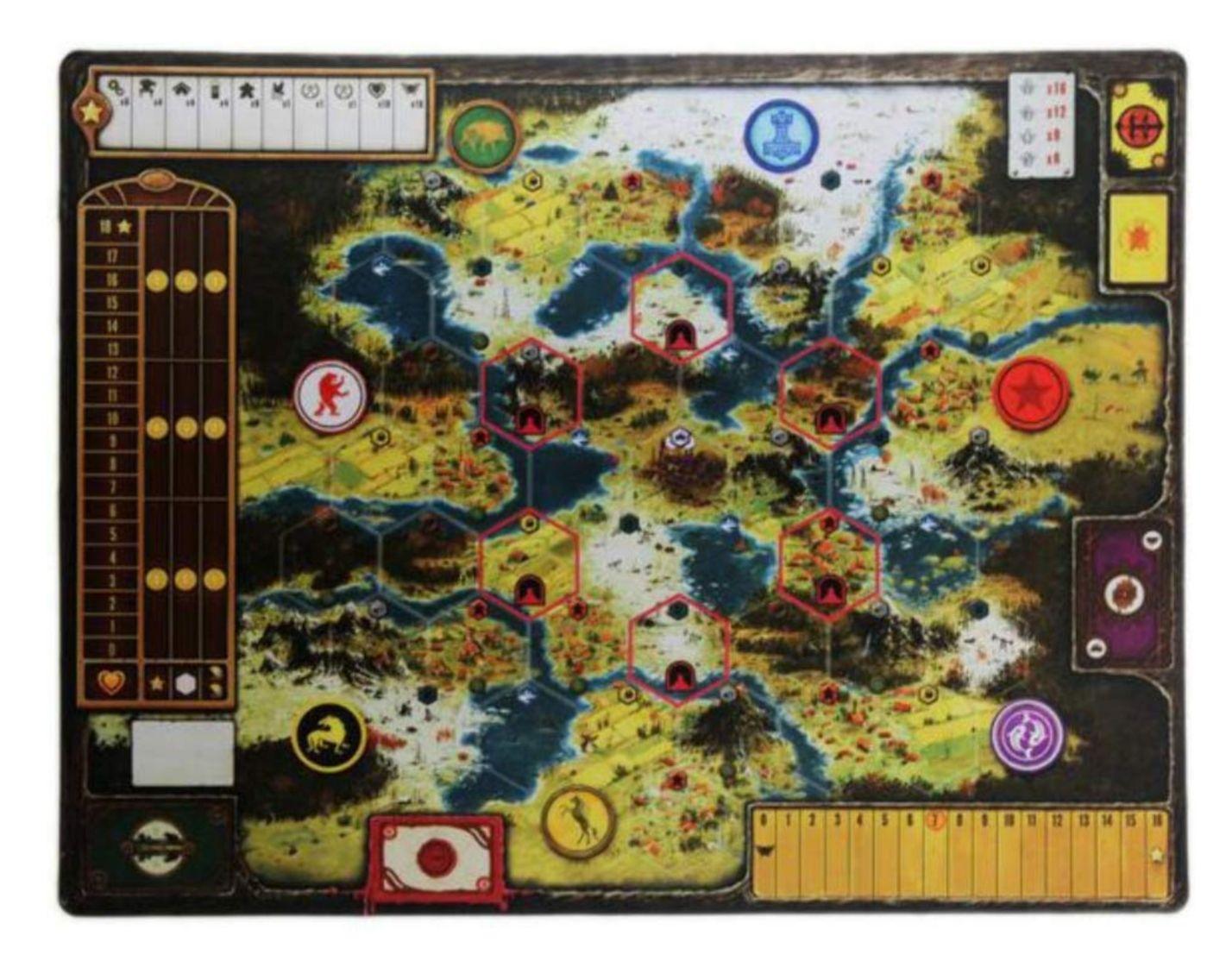 Scythe Neoprene Mat Board Game - Stonemaier Games (Expansion) back image (back cover, second image)