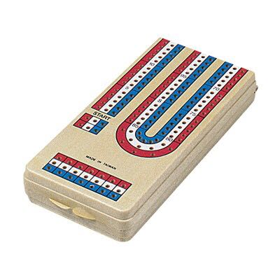 Travel Cribbage Board Game front image (front cover)