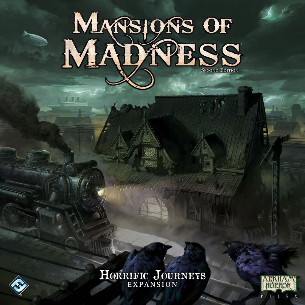 Mansions Of Madness 2nd Edition: Horrific Journeys Board Game - Fantasy Flight Games (Co-op*Expansion*Horror) front image (front cover)
