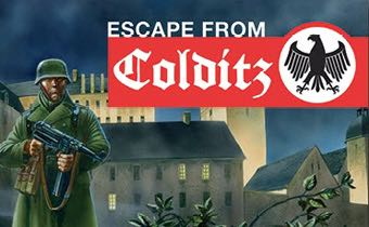 Escape From Colditz Board Game front image (front cover)