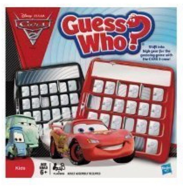 Guess Who Cars 2 Board Game front image (front cover)