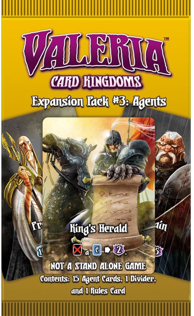 Valeria Card Kingdoms Expansion Pack #3 Board Game front image (front cover)