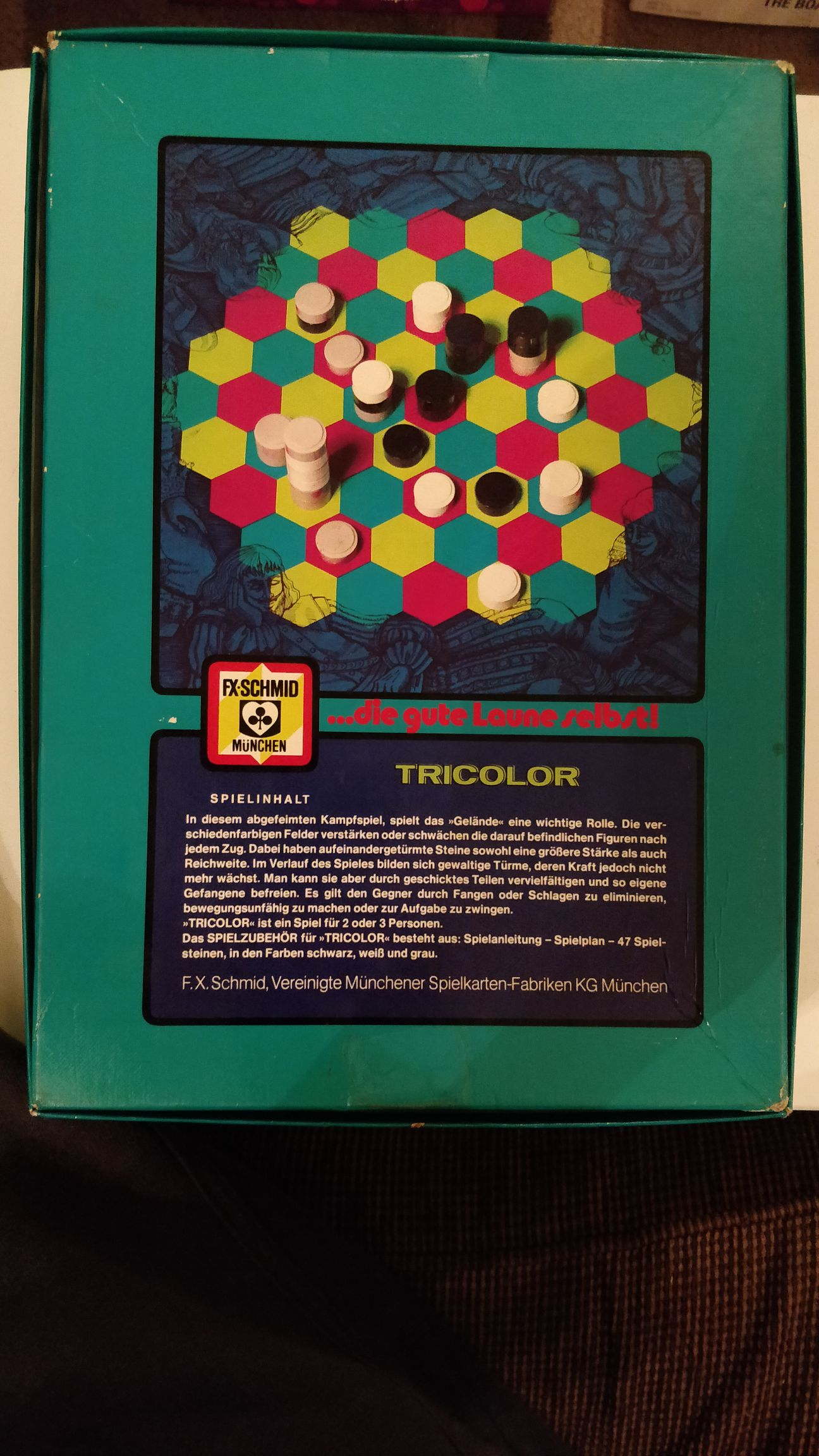 Tricolour Board Game - Fx-schmid (Strategy) back image (back cover, second image)