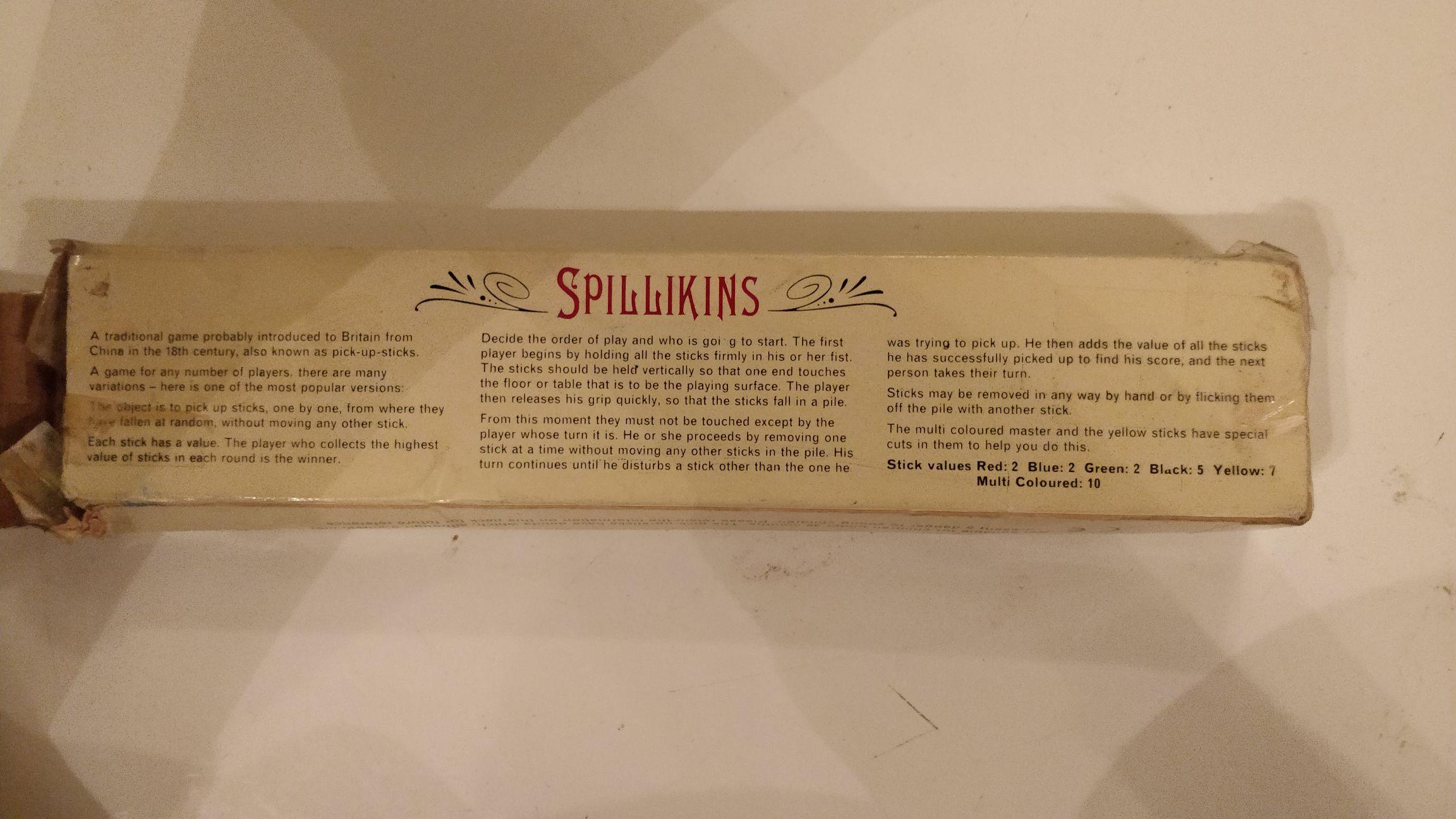 Spillikins Board Game - Past times (Building) back image (back cover, second image)