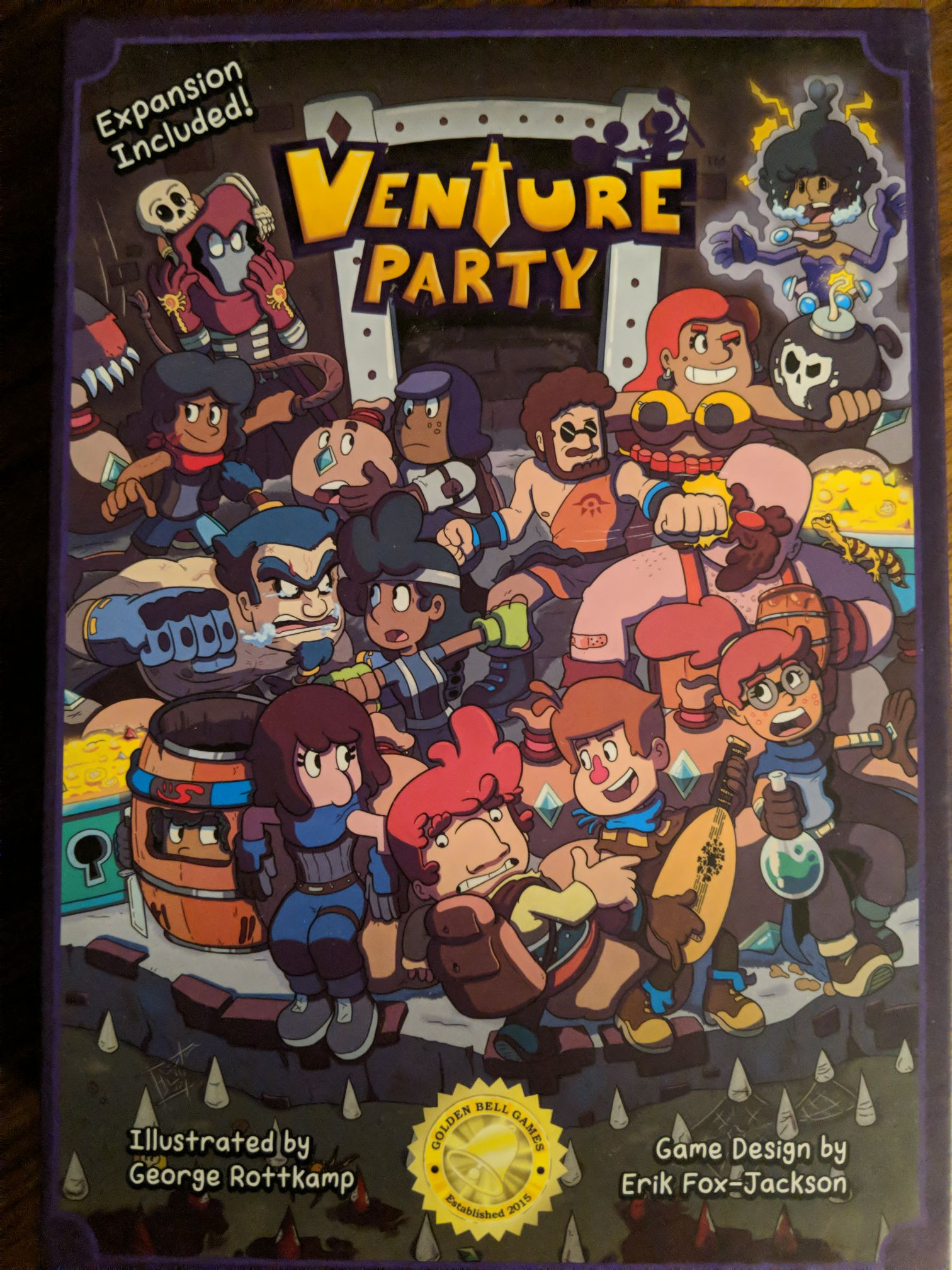 Venture Party Board Game - Golden Bell Games (Card Game) front image (front cover)