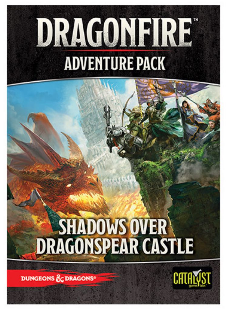 Dragonfire Adventure Pack: Shadows Over Dragonspear Castle Board Game front image (front cover)