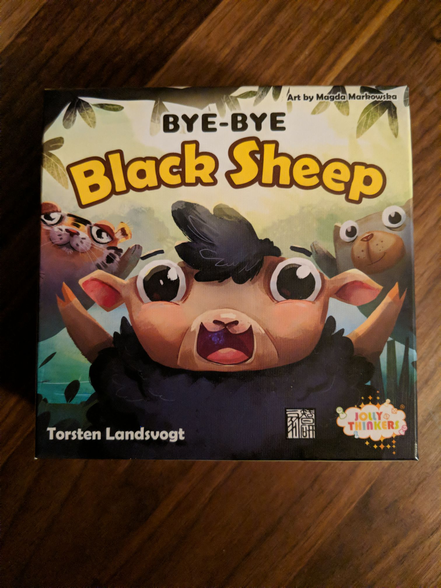 Bye-Bye Black Sheep Board Game - Jolly Thinkers (Card Game) front image (front cover)