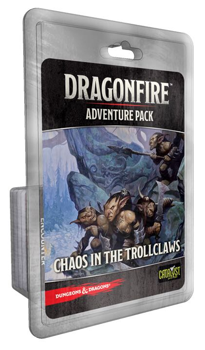 Dragonfire Adventure Pack: Chaos In The Trollclaws Board Game front image (front cover)