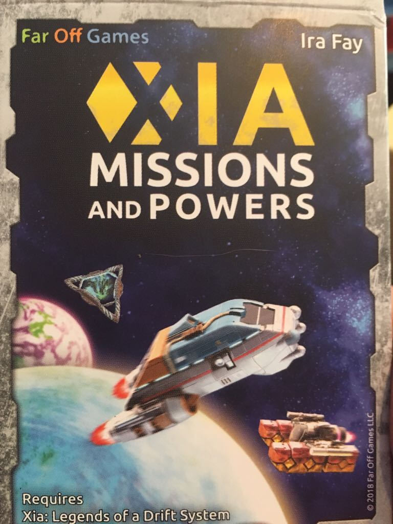 Xia: Missions And Powers Board Game front image (front cover)