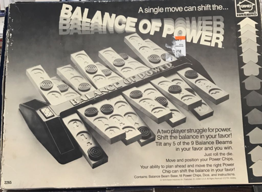 Balance Of Power Board Game - Hasbro (Strategy*Dice) back image (back cover, second image)