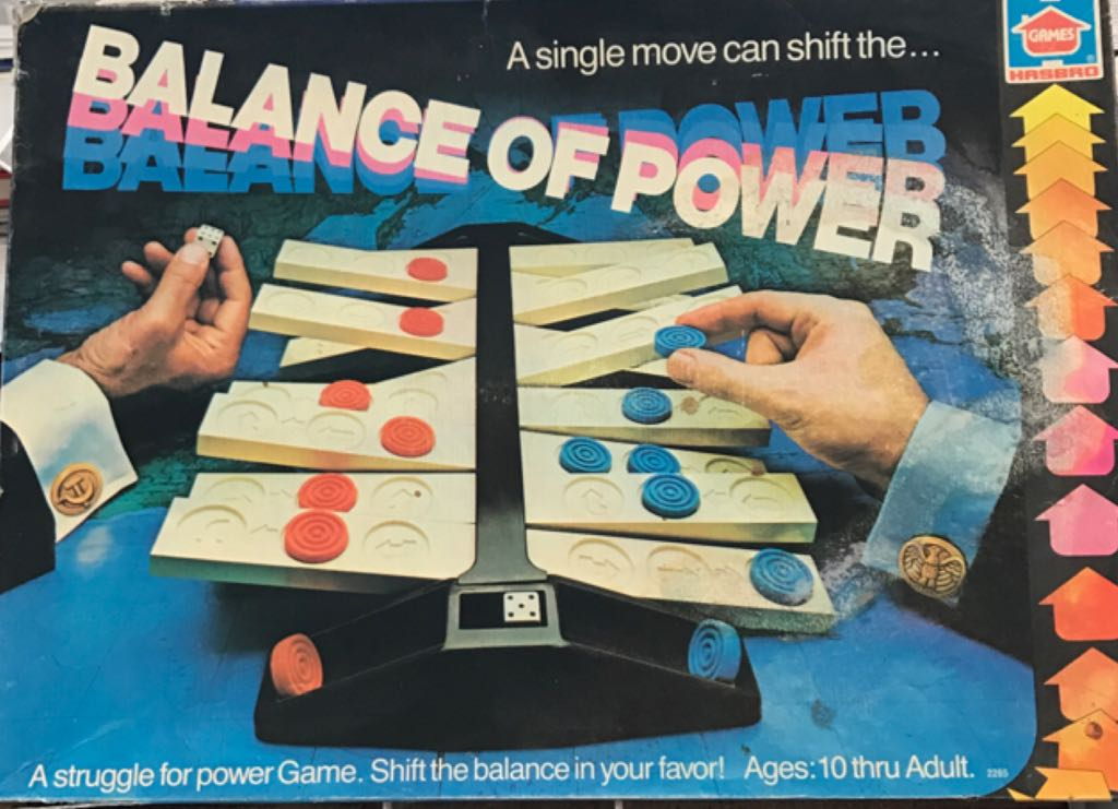 Balance Of Power Board Game - Hasbro (Strategy*Dice) front image (front cover)