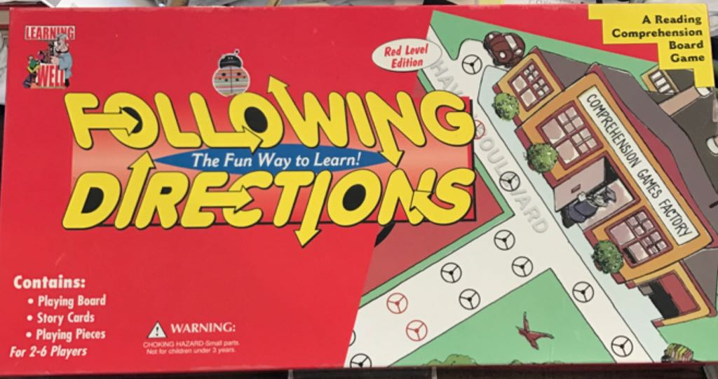 Following Directions Board Game - Highsmith Inc (Educational*Children's Game) front image (front cover)