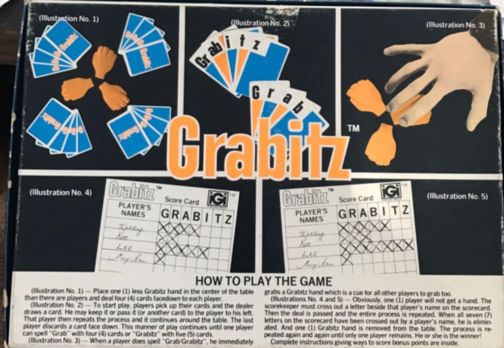Grabitz Board Game - International Games (Action*Card Game) back image (back cover, second image)