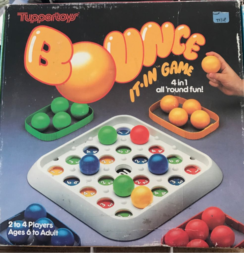 Bounce It In Game Board Game - Tuppertoys (Action*Children's Game) front image (front cover)